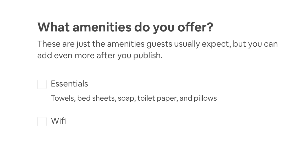 Airbnb Host Airbnb Listing Airbnb Amenities